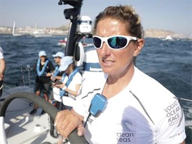 ENG IV Dee Caffari after the In-Port Race in Alicante
