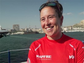 Tamara Echegoyen after In-Port Race in Alicante (ESP)