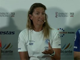 Dee Caffari (Turn the Tide on Plastic) at the skippers press conference