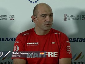Xabi Fernández (MAPFRE) at the skippers press conference before Leg 1 starts