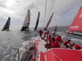 MAPFRE boat feed after start