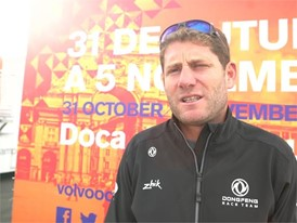 IV (FR) Dongfeng skipper Caudrelier before Leg2 start
