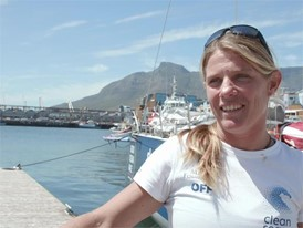 IV EN TTT Liz Wardley ahead of Leg 3 Cape Town to Melbourne