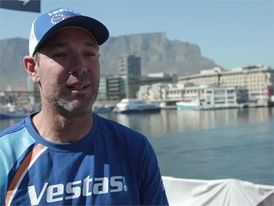 IV EN VEH Simon Fisher ahead of the Leg 3 Cape Town to Melbourne