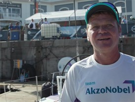 IV FR AZN Alex Pella ahead of Leg 3 start