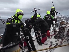 Gybe onboard Dongfeng Race Team 21 Dec