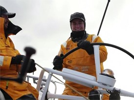 TTT Bianca Cook helming the boat - feature 22 Dec Leg 3
