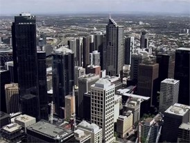 Melbourne GVs aerial shots of the city 25 Dec