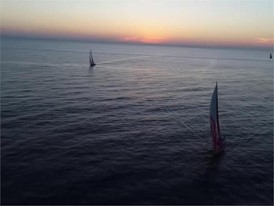 DFG Drone images of fleet closely racing