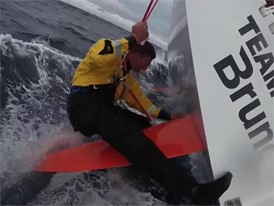 IV EN BNL and Action: Langford fixes the rudder while sailing 23 May Leg 9
