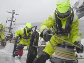 VNR Team Brunel breaks 24 hr VO65 distance record, 24 May Leg 9