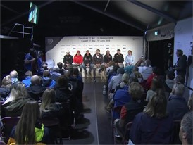 Skippers press conference pre Leg 10, Cardiff 08 June