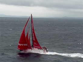HELI: fleet off the Outer Hebrides during Leg 10