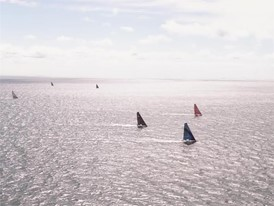 Leg 11 Start - Bonus aerial footage after the start