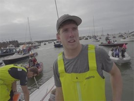BNL Peter Burling (NZL), Leg 11 Arrival 4th place, 24 June
