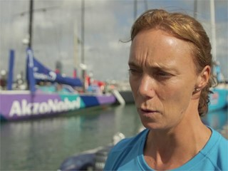 Leg Zero: Rolex Fastnet Race - Interview with AkzoNobel crew as preparation is underway for the Rolex Fastnet Race (NED)