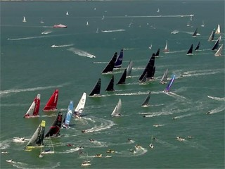 Leg Zero: Rolex Fastnet Race - start, best of footage