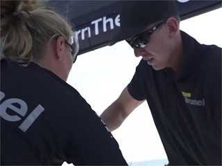 B-roll: onboard footage of Peter Burling's first sail with Team Brunel