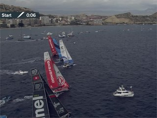 Race start footage (live feed recording)