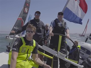 HM King of Netherlands visits the Volvo Ocean Race