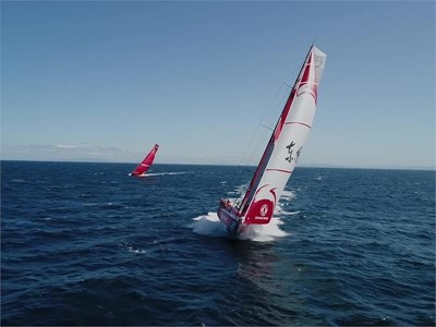 Prologue: Dongfeng's Chen Jinhao 'Horace' ahead of the leg start (CHN)