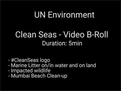 B-roll on plastic, litter, pollution - UN footage - Clean seas