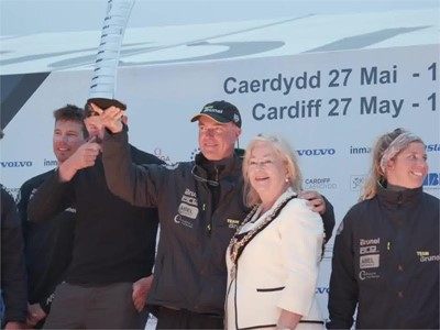 Leg 9 Arrivals in Cardiff