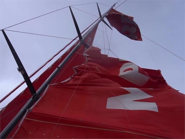 MPF ripped sail before rounding Cape Horn 29 Mar