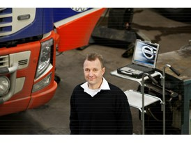 Christian Gustavsson, head of service at Volvo Trucks.