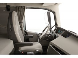 The cab has 4 cm extra leg room