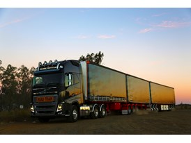 Sunset image of the new Volvo FH in Australia