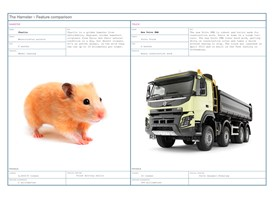 A feature comparison between Charlie and a Volvo FMX