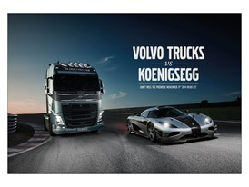 Volvo Trucks challenges one of the world's fastest sports cars - a Koenigsegg One:1