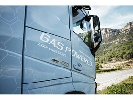 The new Volvo FH LNG with 460 hp is the most powerful series-produced gas-powered truck on the market