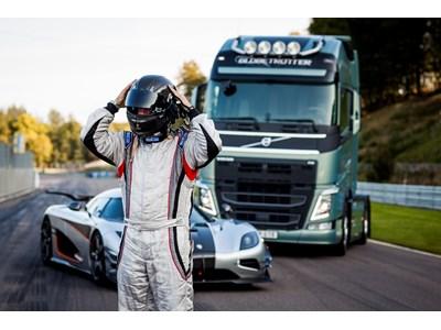 Volvo Trucks vs Koenigsegg: A race between a Volvo FH and a Koenigsegg One:1