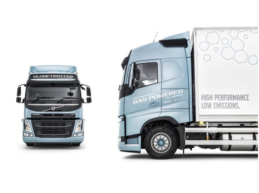 Volvo's new gas-powered trucks emit 20–100% lower CO2 emissions than diesel-powered trucks