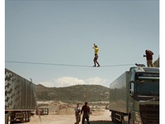 New Video Available - Volvo Truck's Slackline Walking Stunt a Massive YouTube Hit