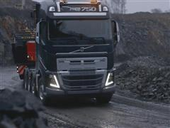 Volvo FH with new heavy duty bumper for rougher conditions