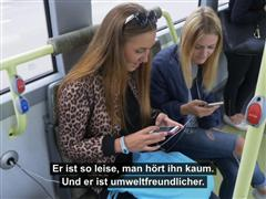 Famous Swedish artists perform surprise gig to promote new electric bus route – Driver portrait and interview with passengers