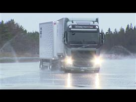 Testing footage from Volvo Trucks Proving Ground Hällered