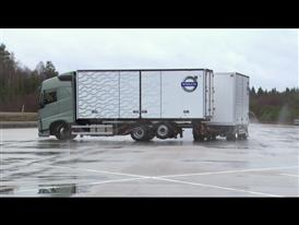 Increased safety on slippery roads with Volvo Trucks' Stretch Brake