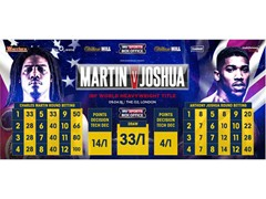 Heavyweight Bookmaker William Hill To Sponsor IBF World Title Fight Between 'Prince' Charles Martin and Anthony Joshua