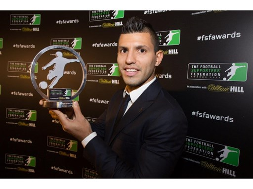 Aguero at the FSF Awards 2014
