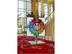 Wynn Resorts Acquires Arrows and Flower Neon Sign Sculpture  By Takashi Murakami and Virgil Abloh