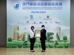 "Wynn Macau wins Gold Award at the ""2020 Macao Green Hotel Award"""