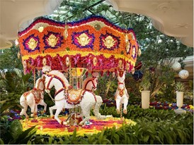 Floral Carousel by Preston Bailey at Wynn Las Vegas