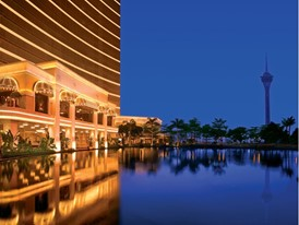 Wynn Macau -  Wynn Tower Night view by Barbara Kraft