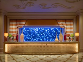 Encore Tower Lobby - Moon Jellyfish Aquarium by Barbara Kraft