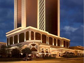 Wynn Macau -  Encore Tower Exterior by Barbara Kraft