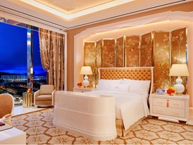 Wynn Palace Penthouse Bedroom by Roger Davies
